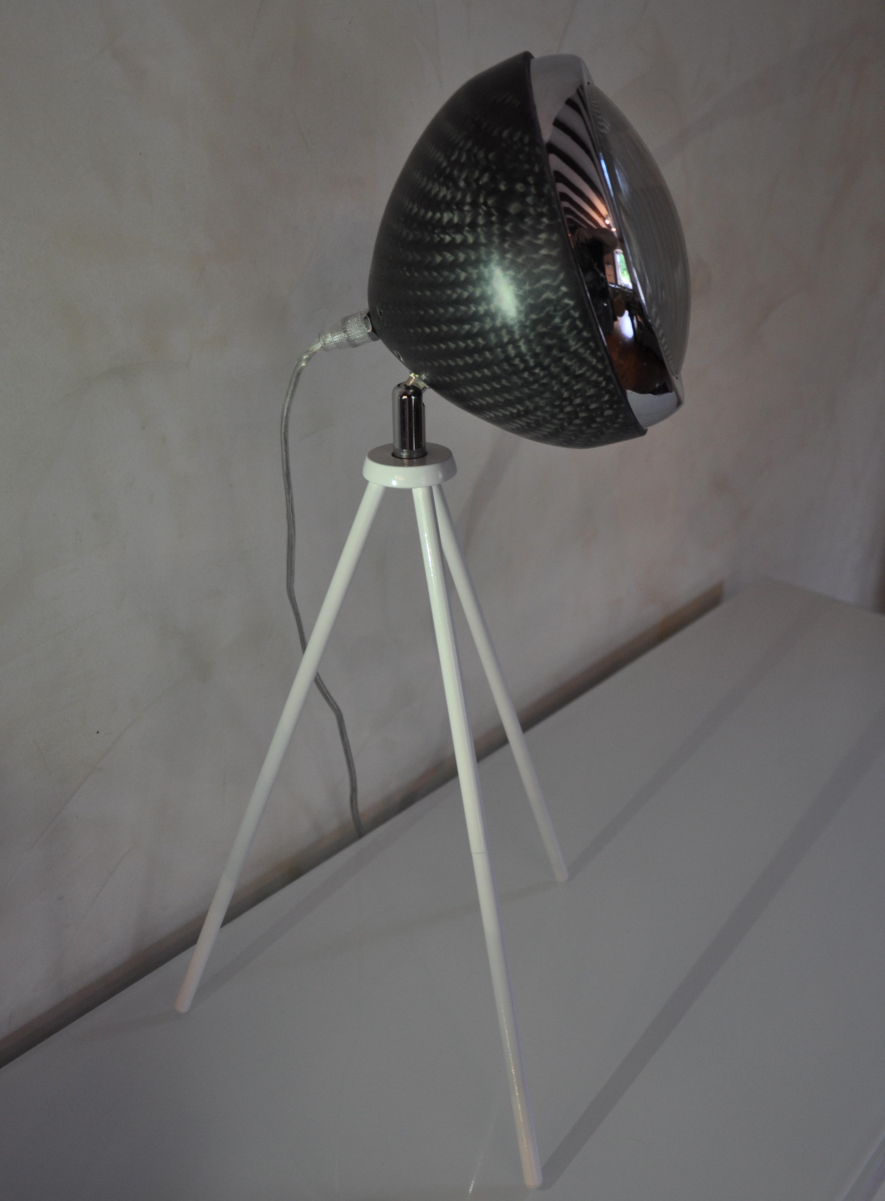 Luminaire chevet carbone