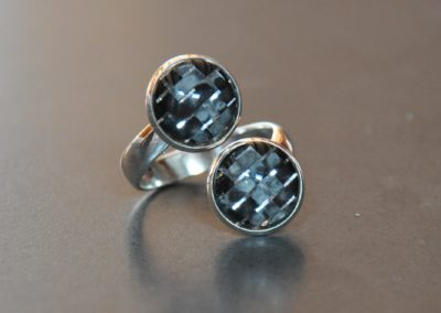 Carbon silver ring