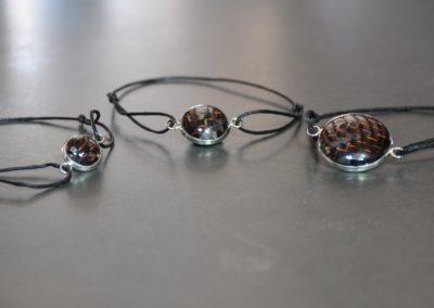 Bronze carbon bracelets